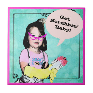 Erhalten Sie Scrubbin Baby! Aufgaben-Erinnerung - Kleine Quadratische Fliese