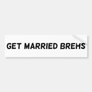 Erhalten Sie verheiratetes Brehs #GMB Autoaufkleber