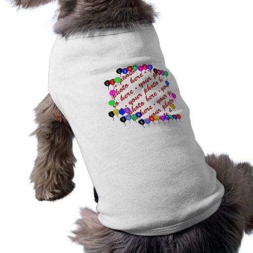 Erhalten Sie weggeschaffenen Geburtstags-Ballon-Fo Haustierhemden