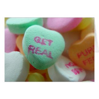 Erhalten Sie wirkliches Süßigkeits-Herz Grußkarte