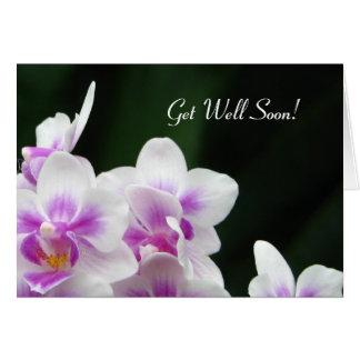 Erhalten Sie wohle bald Blumengruß-Karte Grußkarte
