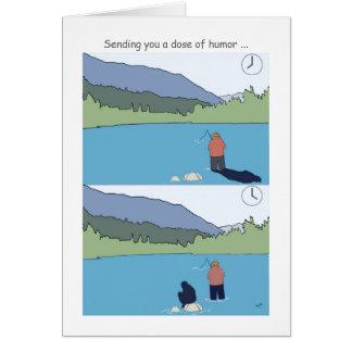 Erhalten Sie wohle bald fischenkarten, lustigen Grußkarte