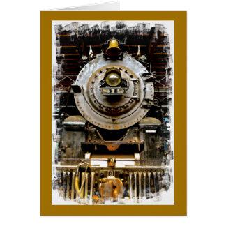 Erhalten Sie wohle Vintage Zug-Karte Karte