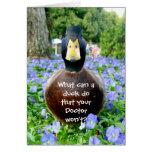 Erhalten Sie wohler Karte lustige Ente