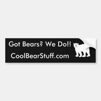 Erhaltene Bären? Autoaufkleber