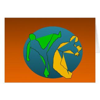 erhaltene capoeira Kampfkünste Grußkarte