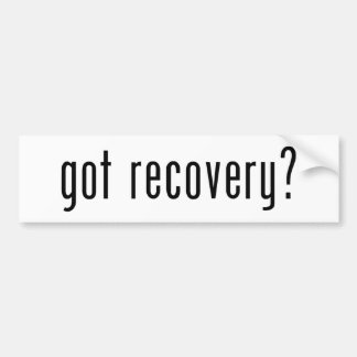 Erhaltene Erholung? Autoaufkleber