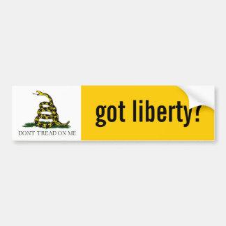 Erhaltene Freiheit? Gadsden-Flagge Autoaufkleber