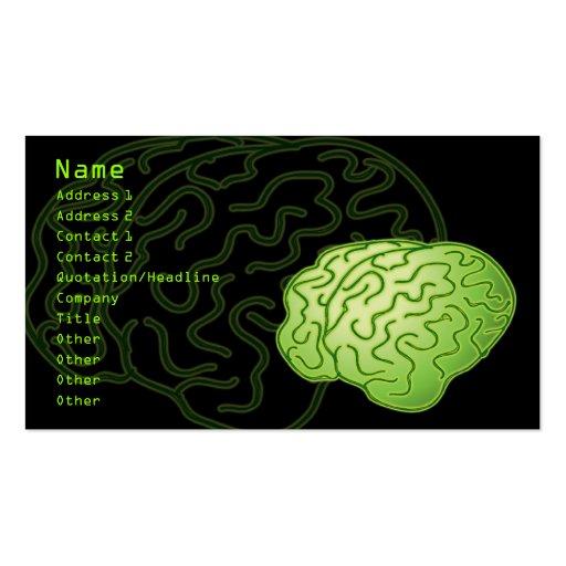 Erhaltene Gehirne! Visitenkartenvorlage