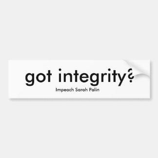 erhaltene Integrität? Autoaufkleber
