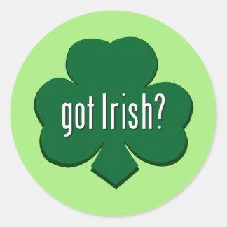 Erhaltene Iren? Runder Aufkleber