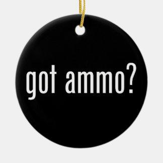 Erhaltene Munition? - einseitig Keramik Ornament