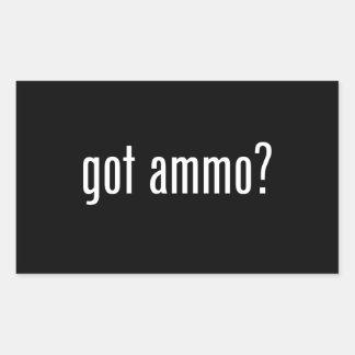 erhaltene Munition? Rechteckiger Aufkleber