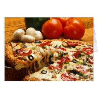 Erhaltene Pizza? Grußkarte