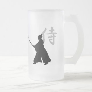 Erhaltene Samurais? GlasTasse Mattglas Bierglas