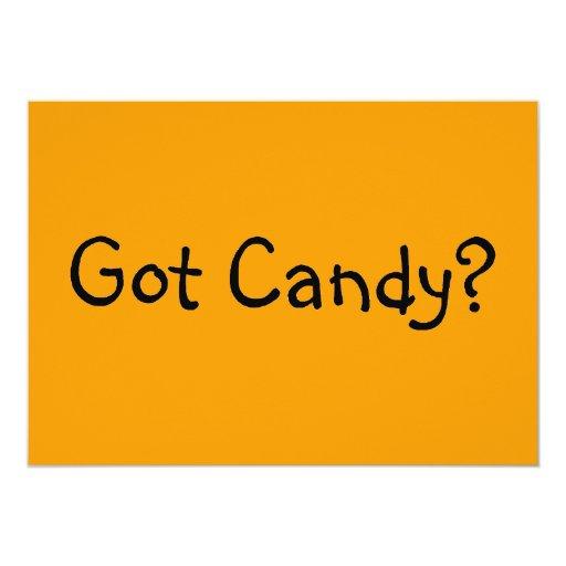Erhaltene Süßigkeit Individuelle Ankündigskarten
