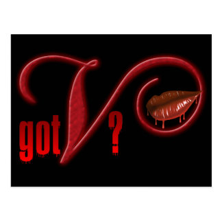 Erhaltene V - Vampirs-Blut Postkarte
