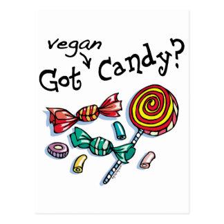 Erhaltene vegane Halloween-Süßigkeit Postkarte