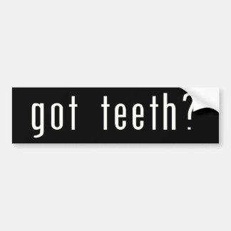 Erhaltene Zähne? Autoaufkleber
