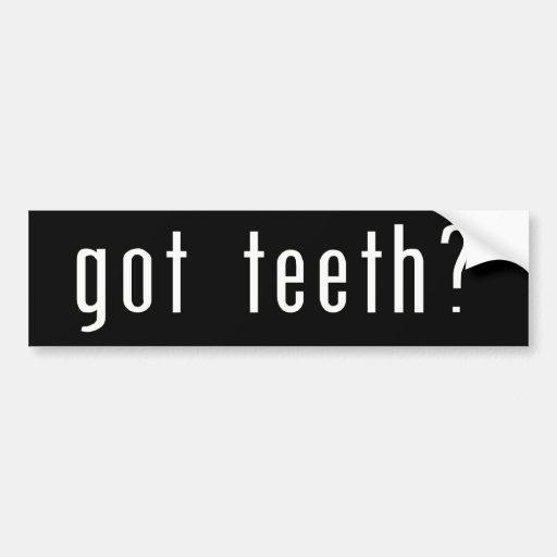 Erhaltene Zähne? Auto Aufkleber
