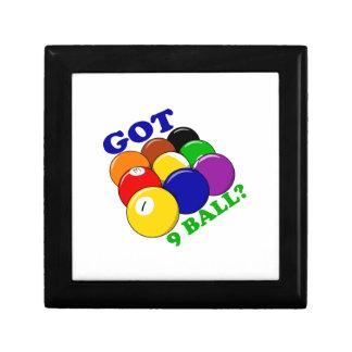 Erhaltener 9 Ball-Pool-Spieler Geschenkbox