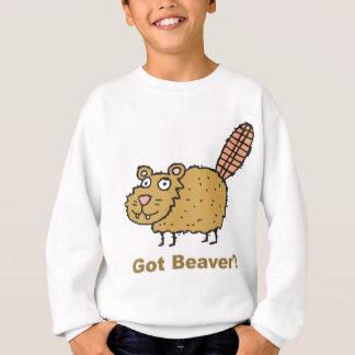 Erhaltener Biber Sweatshirt
