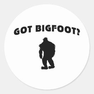 Erhaltener Bigfoot? Runde Sticker