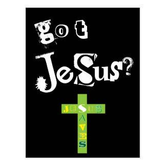 Erhaltener Jesus rettet Postkarte