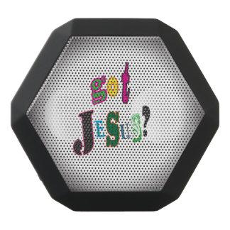 Erhaltener Jesus schwarzes ovales abstraktes Schwarze Bluetooth Lautsprecher