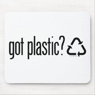 erhaltener Plastik? Recyceln des Zeichens Mousepad