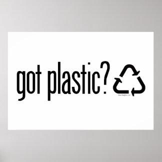 erhaltener Plastik? Recyceln des Zeichens Poster
