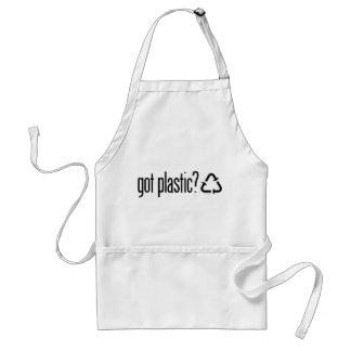 erhaltener Plastik? Recyceln des Zeichens Schürze