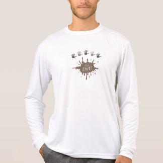 Erhaltener Schmutz? Langes Hülsen-Shirt T-Shirt