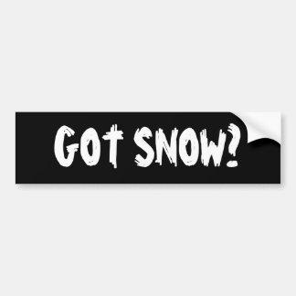 Erhaltener Schnee? Autoaufkleber