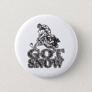 Erhaltener Schnee Snowmobiler Runder Button 5,1 Cm