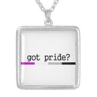 Erhaltener Stolz? Asexuale Stolz-Halskette Halskette Mit Quadratischem Anhänger