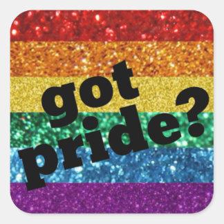 Erhaltener Stolz? Gay Prideaufkleber Quadrat-Aufkleber