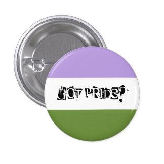 Erhaltener Stolz? Genderqueer Stolz-Knopf Runder Button 3,2 Cm