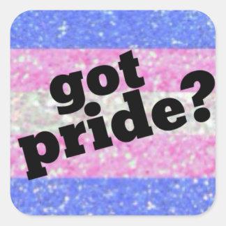 Erhaltener Stolz? Transgenderstolzaufkleber Quadratischer Aufkleber