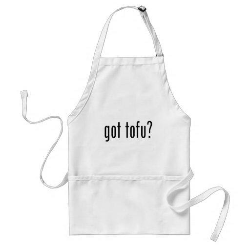 Erhaltener Tofu? Veganes vegetarisches Protein! Schürze