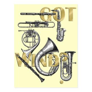 Erhaltener Wind lustige Blasinstrumentspieler Gesc Postkarte