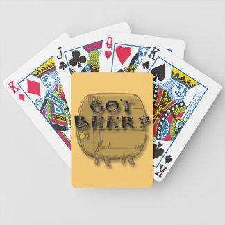 Erhaltenes Bier lustiges Schwarzes Spielkarten