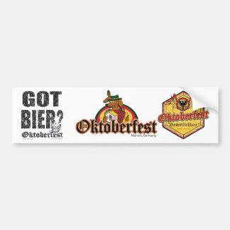 Erhaltenes Bier - Oktoberfest Autoaufkleber
