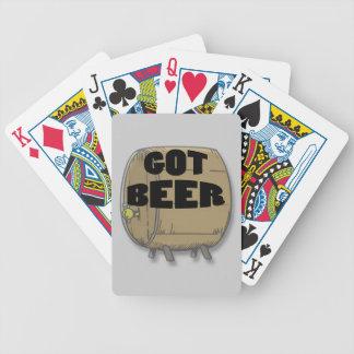 Erhaltenes Bierschwarzes Pokerkarten