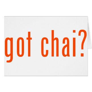 erhaltenes Chai? Karte