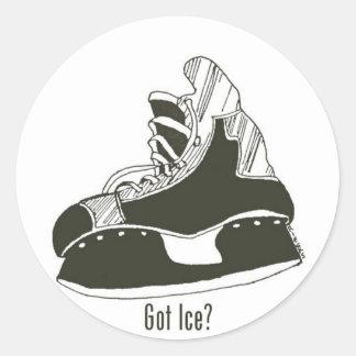 Erhaltenes Eis? Hockey-Skate-Aufkleber-kleine Runder Aufkleber