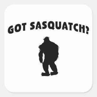 Erhaltenes Sasquatch? Quadratischer Aufkleber