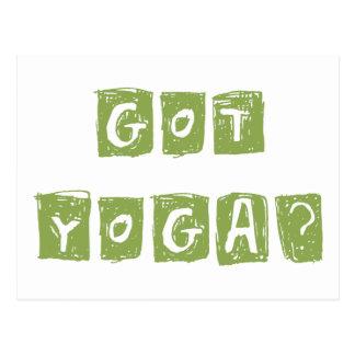 Erhaltenes Yoga? Geschenk Postkarte