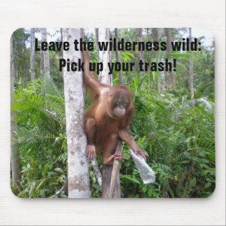 Erhaltung der Naturs-Plastikverschmutzung Mousepad