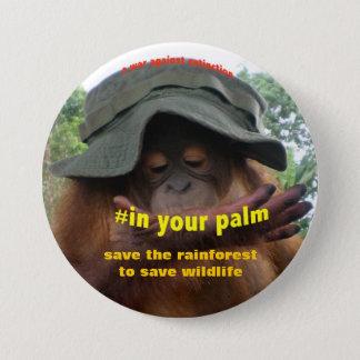 Erhaltungs-Aktivist für Tierschutz Runder Button 7,6 Cm
